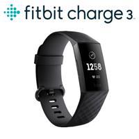 Fitbit charge3 進階版 健康智慧運動手環 (黑框黑)
