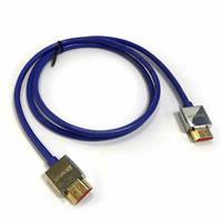 極細HDMI2.0版高階影音傳輸線 1M 藍色