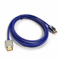 極細HDMI2.0版高階影音傳輸線 2M 藍色