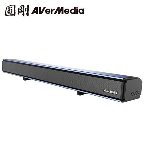 【電玩電影款】圓剛 戰神巴雷特 2.0聲道 單件式 藍芽無線電競Soundbar GS333 金屬藍