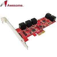 Awesome PCIe 2.0x10埠AHCI SATAIII 6Gbps擴充卡-AWD-PE-129