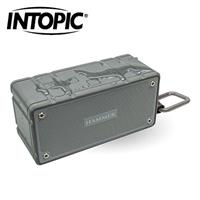 【IP66防塵防水款】INTOPIC 廣鼎 多功能防水藍牙喇叭 灰 SP-HM-BT261-GR