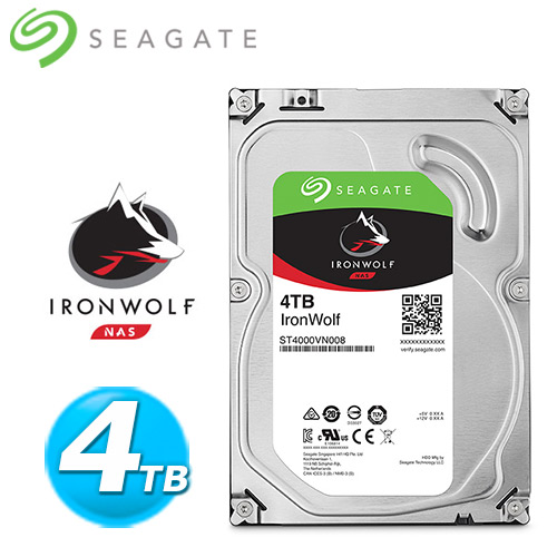 Seagate 那嘶狼~IronWolf~4TB 3.5吋 NAS硬碟  ST4000VN