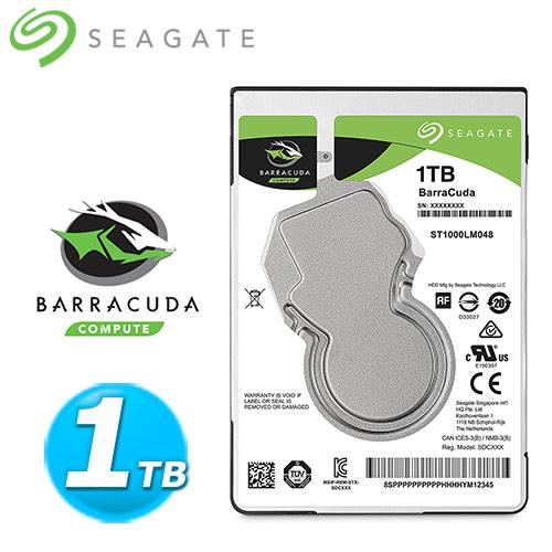 Seagate~BarraCuda~新梭魚 1TB 2.5吋硬碟 ST1000LM048