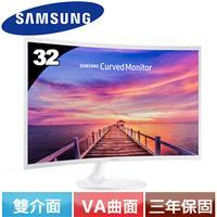 SAMSUNG三星 32型 C32F391FWE VA曲面零閃屏低藍光液晶螢幕