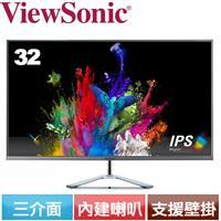 R2【福利品】ViewSonic優派 32型無框美型液晶螢幕 VX3276-mhd