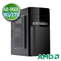 技嘉A320平台【黑翼劍魂II】AMD APU 四核 1TB效能電腦