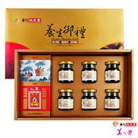 華陀扶元堂 養生御禮C 乙盒(高麗蔘茶包x10包+MSM龜鹿精x6瓶)