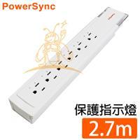 群加R-PWS-KLX16273插6座電源延長線-2.7米福利品