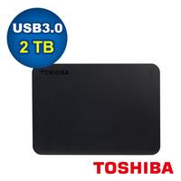 Toshiba Canvio Basics 黑靚潮III 2TB 2.5吋行動硬碟