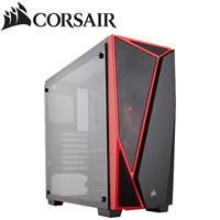 CORSAIR 海盜船Corsair Carbide SPEC-04 玻璃透側 機殼/黑紅