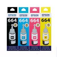 【期間促銷】EPSON  原廠墨水 T664 四色【一組】