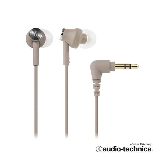 【公司貨-非平輸】鐵三角 ATH-CK350M 耳塞式耳機(附捲線器) 棕色