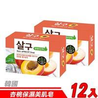 【12入超值組】韓國 MKH無窮花-杏桃保濕美肌皂 100g