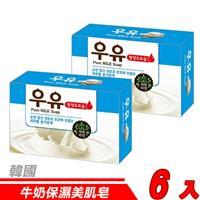 【6入超值組】韓國 MKH無窮花-牛奶保濕美肌皂 100g
