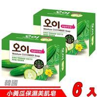 【6入超值組】韓國 MKH無窮花-小黃瓜保濕美肌皂 100g