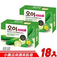 【18入超值組】韓國 MKH無窮花-小黃瓜保濕美肌皂 100g