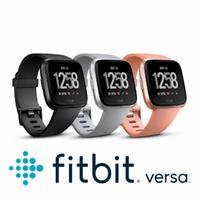FITBIT VERSA 智能運動手錶 黑框黑錶帶