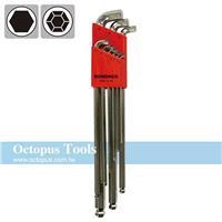 Octopus 1.5-10mm球型六角扳手9件  短頭加長 16799 BONDHUS