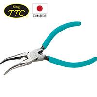 日本製 KING TTC 電子用彎口尖嘴鉗 RB-125