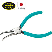 日本製 KING TTC 電子用彎口尖嘴鉗 FNP-125N
