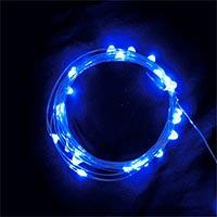 USB 5V 防水型100燈銀絲燈 10M藍光