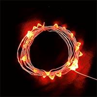 USB 5V 防水型10燈銀絲燈 1M 紅光