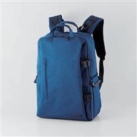 ELECOM 帆布多功能大容量後背包(L)II-S037 藍