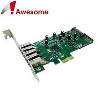Awesome PCIe 7埠USB3.0 I/O卡 AWD-1100LE-7
