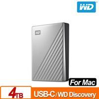 WD My Passport Ultra for Mac 4TB 2.5吋USB-C行動硬碟