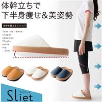 日本【alphax】健身美姿兩用平衡拖鞋_深藍色★走路也能調整美姿
