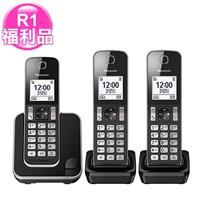 R1【福利品】Panasonic數位中文三手機無線電話KX-TGD313TW