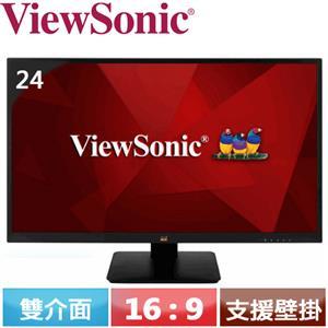 ViewSonic優派 24 型 IPS Full HD 專業液晶螢幕 VA2410-H