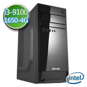 技嘉B365平台【EI391-GB365M06】i3四核 GTX1650-4G獨顯 2TB效能電腦