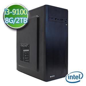 技嘉B365平台【EI391-GB365M08】i3四核 2TB效能電腦