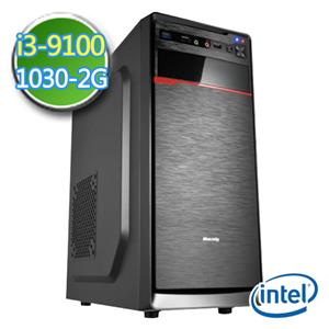 華碩B365平台【EI391-AB365M05】i3四核 GT1030-2G獨顯 2TB效能電腦