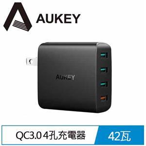 【AUKEY】PA-T18 4孔 42W QC3.0 4孔充電器