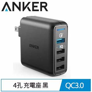 Anker PowerPort 4PORT QC3.0充電座 黑 A2040
