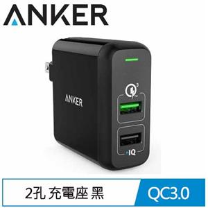 Anker PowerPort 2PORT QC3.0 充電座 黑 A2024