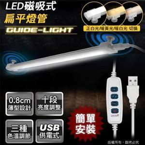 aibo USB帶線遙控器 LED磁吸式可調光扁平燈管(LI-08)