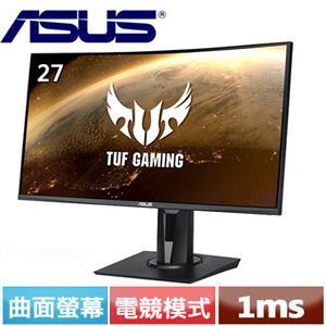 R1【福利品】ASUS華碩 27型 曲面電競螢幕 VG27VQ.