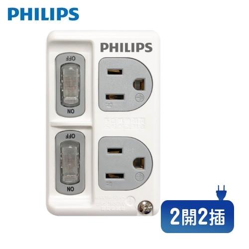 Philips SPB1421W/96 2開2插壁插 白色