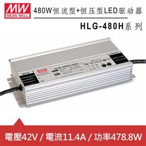 MW明緯 HLG-480H-42B 恒流型+恒壓型LED驅動器(478.8W)