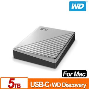 WD My Passport Ultra for Mac 5TB 2.5吋USB-C行動硬碟