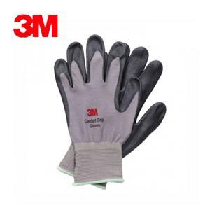 3M 亮彩舒適型止滑/耐磨手套 灰色 XL