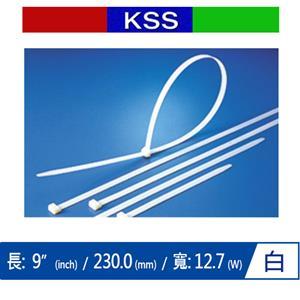 KSS CV-230XL 超寬型紮線帶 白 (100 PCS)
