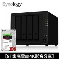 【家庭雲端4K影音分享】Synology NAS+IronWolf 2TB 四顆