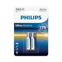 PHILIPS 超鹼4號電池2入(背卡)
