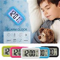 彰唯 貪睡電子式鬧鐘+時間+溫度顯示 (黑/白/藍/綠/桃,5色隨機出貨) C-1019