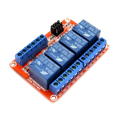 5V 4路繼電器高/低電平驅動板(H:2.5~5V/L:0~1.5v)